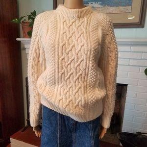 Hand Knit Fisherman's Chunky Sweater Sz Medium